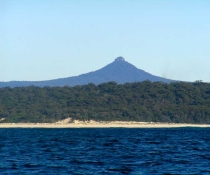 Pigeon House Mountain/Didthul Mountain viewed from South Pacific Ocean