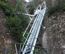 The Pigeon House Mountain Didthul walking track in Morton National Park - lower ladder