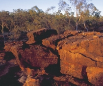 Rocky landscape, Aboriginal cultural heritage Mount Grenfell Historic Site
