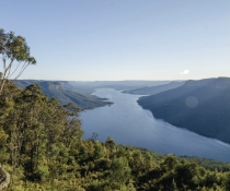 Lake Burragorang Warragamba Catchment Nattai National Park. Lake Burragorang, formed by Warragamba Dam, when full holds four times more water than Sydney Harbour