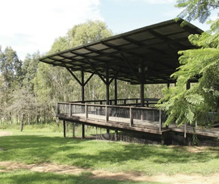 Crebra Pavillion venue for hire with views across the park, Rouse Hill Regional Park