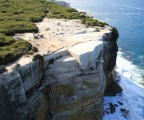 Aerial view, Wedding Cake Rock, Royal National Park