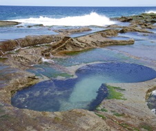 Figure Eight Pool, ocean waves, Royal National Park