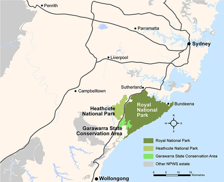 Map of Royal National Park