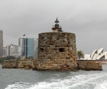 Fort Denison with Sydney Opera House in the background