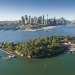 Goat Island aerial view, Sydney Harbour National Park