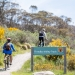 People cycling along the Thredbo Valley Track