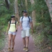 Couple bushwalking through Tomaree National Park, Fingal Bay.