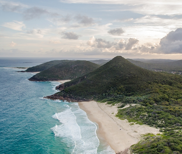 View of coastline, Tomaree National Park