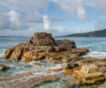 Rocks of Fort Tomaree, coastline, Tomaree National Park