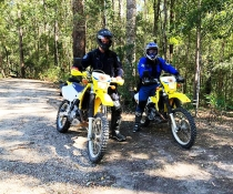 Local Police on NPWS trail bikes during joint operation
