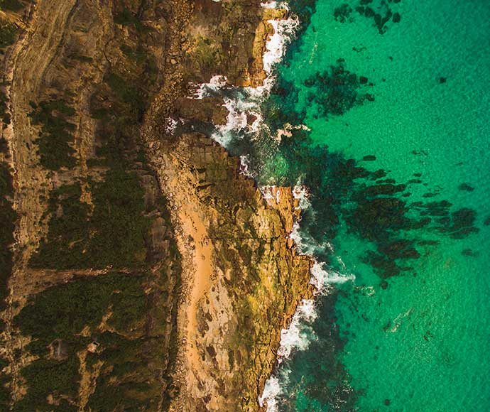 Newcastle Coastline NSW, Aerial