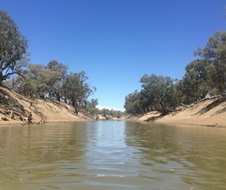 The waters of the Darling River
