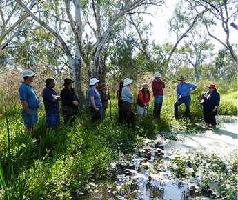 Macquarie Cudgegong Environmental Flows Reference Group in the field