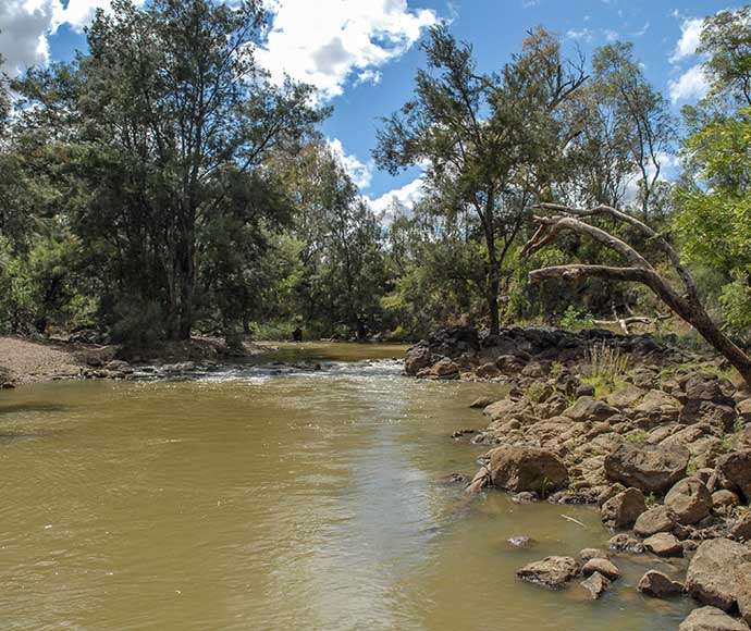 The Gwydir River at The Rocks