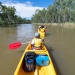 Canoeists paddling on the Murray River canoe trail