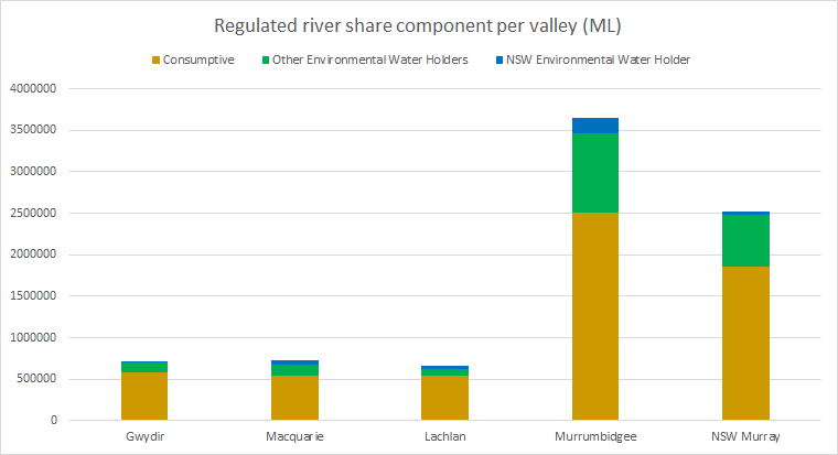 Valley and environmental water holdings