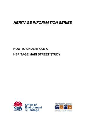 How To Undertake A Heritage Main Street Study Nsw Environment