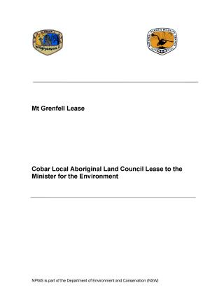 Mount Grenfell Historic Site Aboriginal Ownership And Leaseback