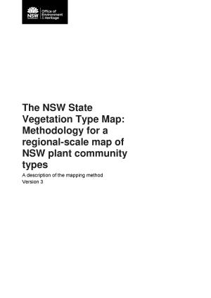 The NSW State Vegetation Type Map: Methodology for a