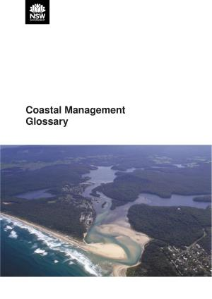 Coastal Management Glossary | NSW Environment, Energy and