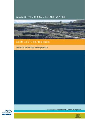Construction Blue Book >> Managing Urban Stormwater Soils And Construction Volume 2e
