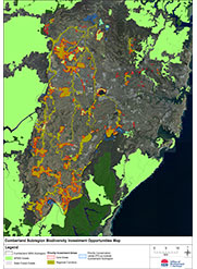 Cumberland Subregion Biodiversity Investment Opportunities Map