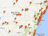 Map of Aboriginal Places in NSW