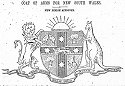 Illustration of the first proposed Coat of Arms, 1906