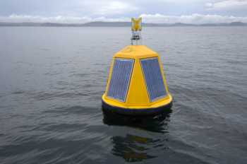 One of the sophisticated in-water surveillance buoys at the site. Sydney