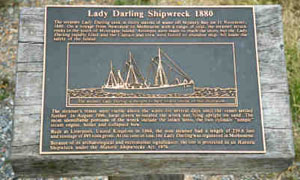 Commemorative plaque for Lady Darling at Narooma (Photo: D. Nutley)
