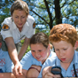 School group participating in a discovery program at Fitzroy, Morton National Park (Image: Michael van Ewijk/DECCW)