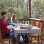 Enjoying the view from the deck of The Chalet in New England National Park (Image: Michael van Ewijk/DECCW)