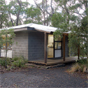 Outside view of The Chalet accommodation in New England National Park (Image: Michael van Ewijk/DECCW)