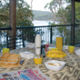 Alfresco dining at Weemalah Cottage in Royal National Park (Image: Michael van Ewijk/DECCW)