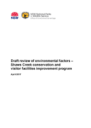 Cover draft conservation management plan