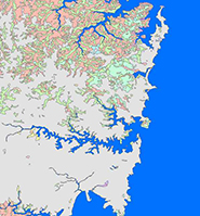 Sydney vegetation map