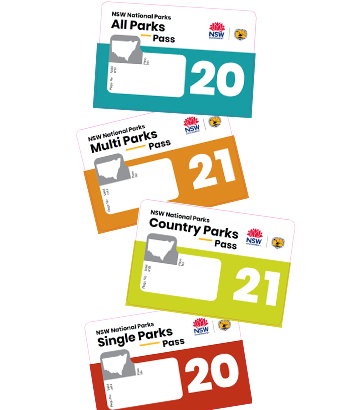 Vehicle stickers for parks passes