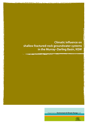 Cover for Climatic influence on shallow fractured-rock groundwater systems in the Murray–Darling Basin, NSW